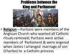 problems between the king and parliament1