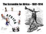 the scramble for africa 1881 1914