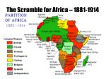 the scramble for africa 1881 19141