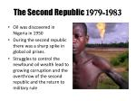 the second republic 1979 1983