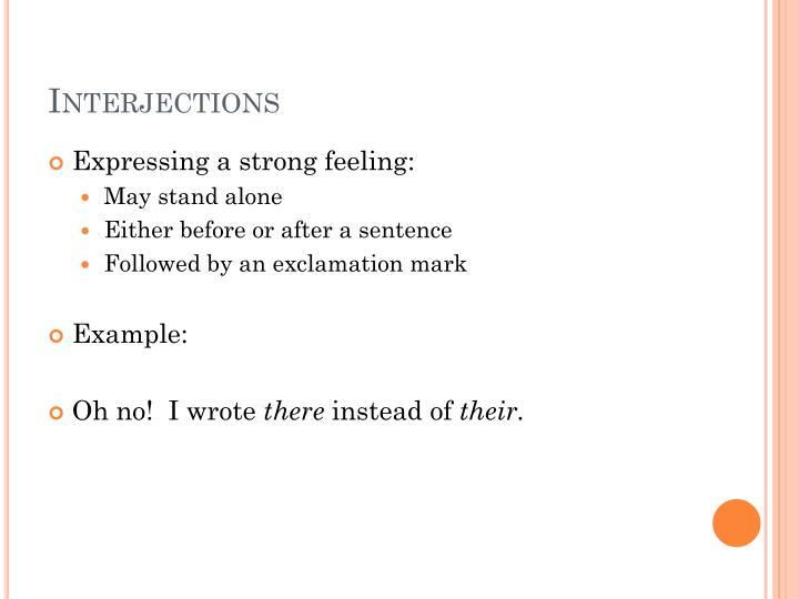 Interjections