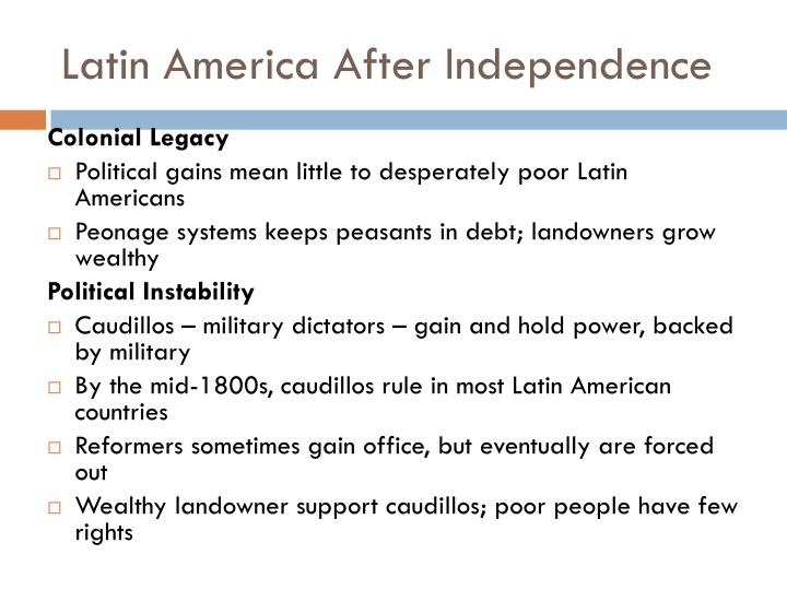 Latin america after independence