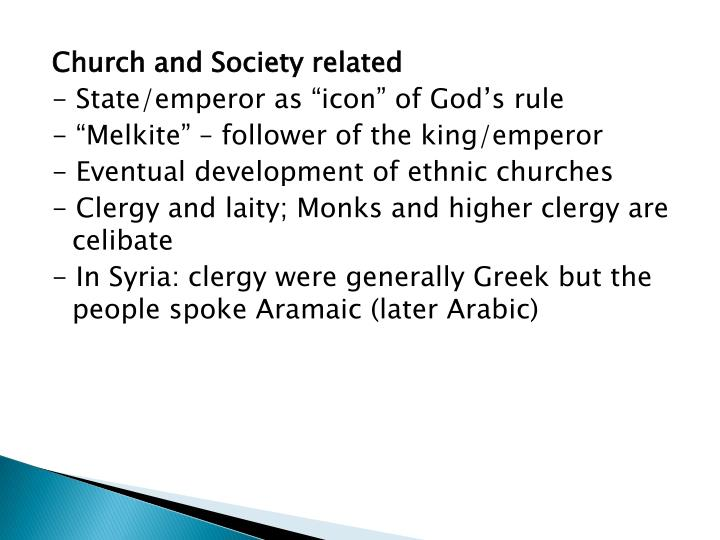 Church and Society related
