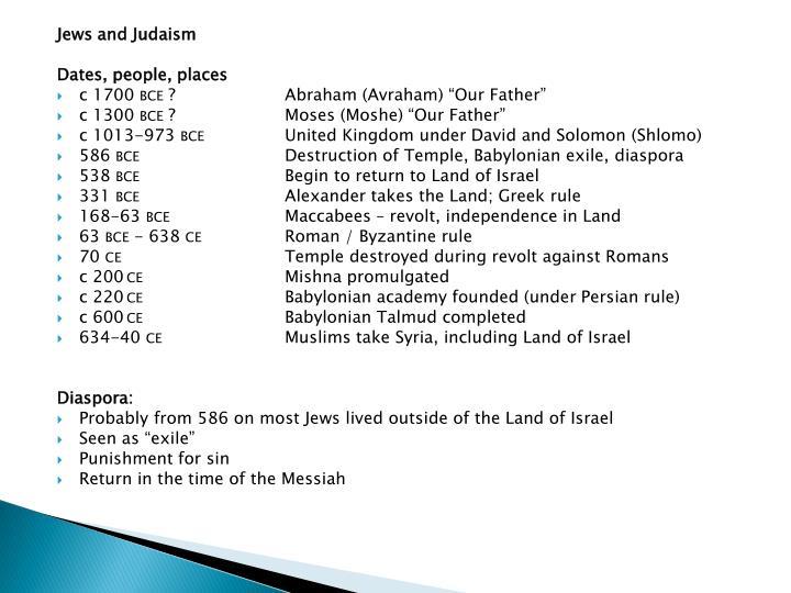 Jews and Judaism