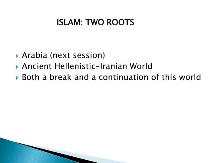ISLAM: TWO ROOTS