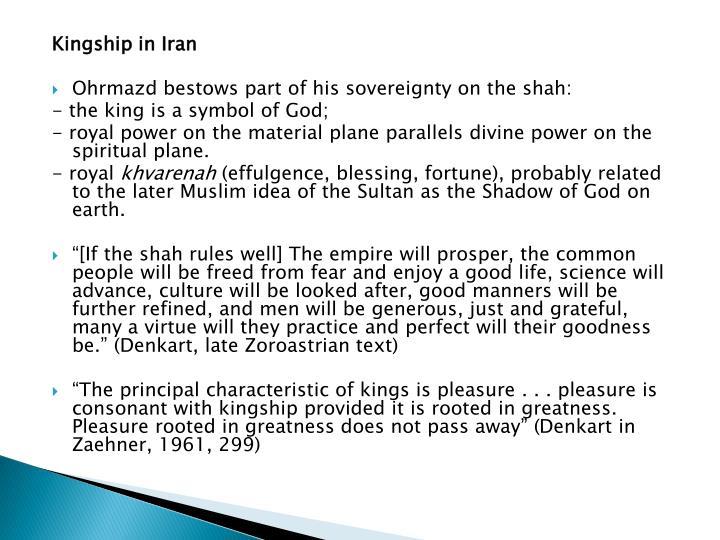 Kingship in Iran