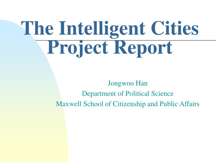 the intelligent cities project report n.