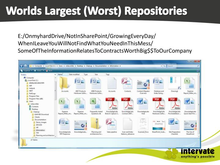 Worlds Largest (Worst) Repositories