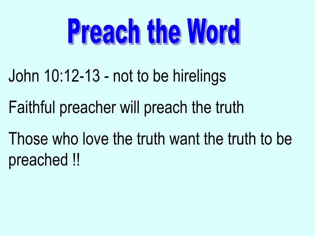PPT - Preach the Word PowerPoint Presentation, free download - ID ...