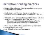 ineffective grading practices