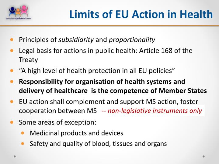 Limits of EU Action in Health