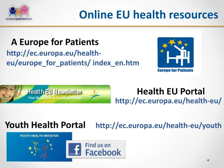 Online EU health resources