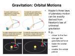 gravitation orbital motions