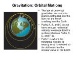gravitation orbital motions1
