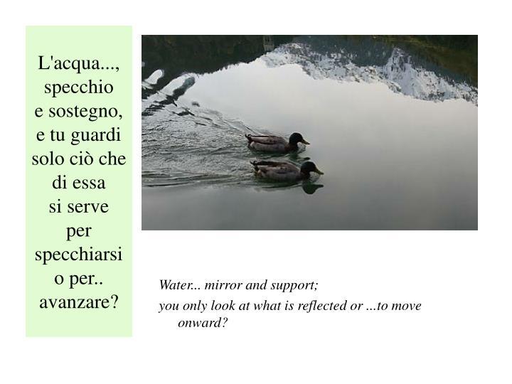 L'acqua..., specchio
