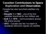canadian contributions to space exploration and observation2