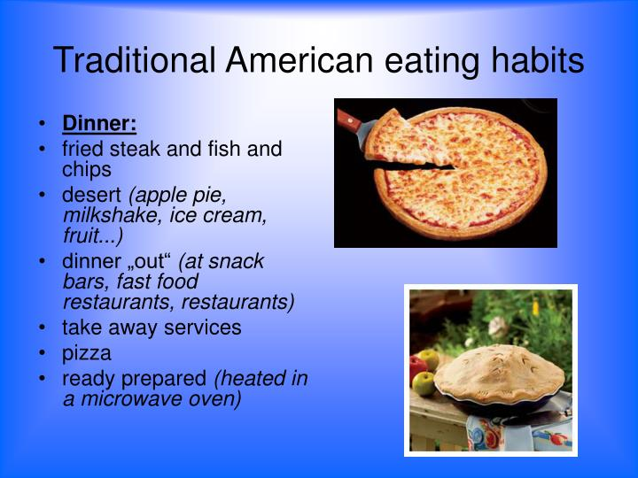 american eating habits + essay Read this essay on eating habits come browse our large digital warehouse of free sample essays get the knowledge you need in order to pass your classes and more the prevalence of american obesity continues to climb at alarming rates (a 55% increase between 1980-1994) (mokdad et al.