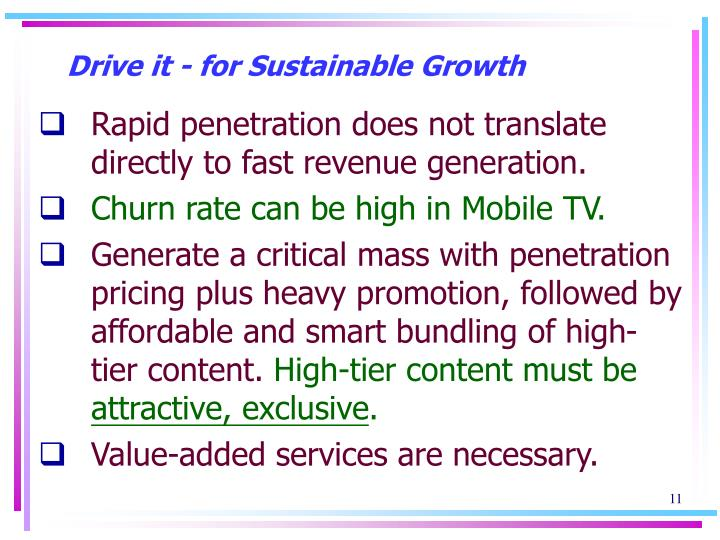 Drive it - for Sustainable Growth