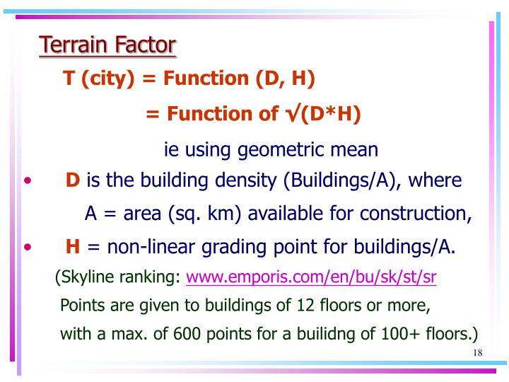 Terrain Factor