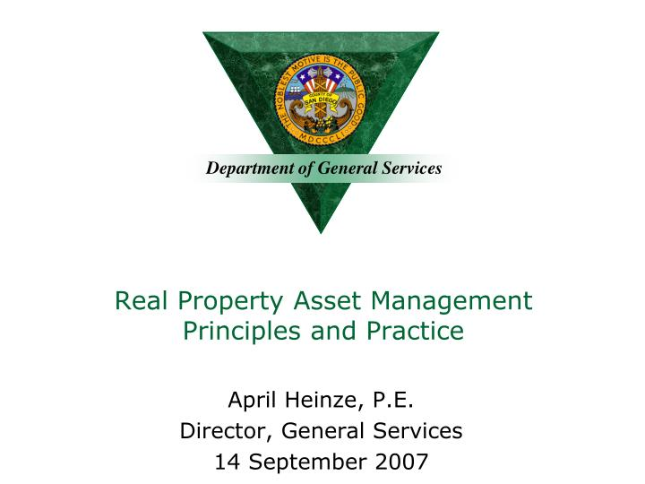 real property asset management principles and practice n.