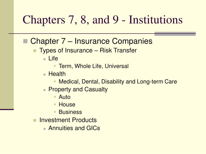 chapters 7 8 and 9 institutions n.