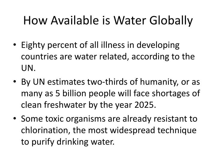 How Available is Water Globally