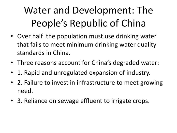 Water and Development: The People's Republic of China