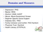 domains and measures