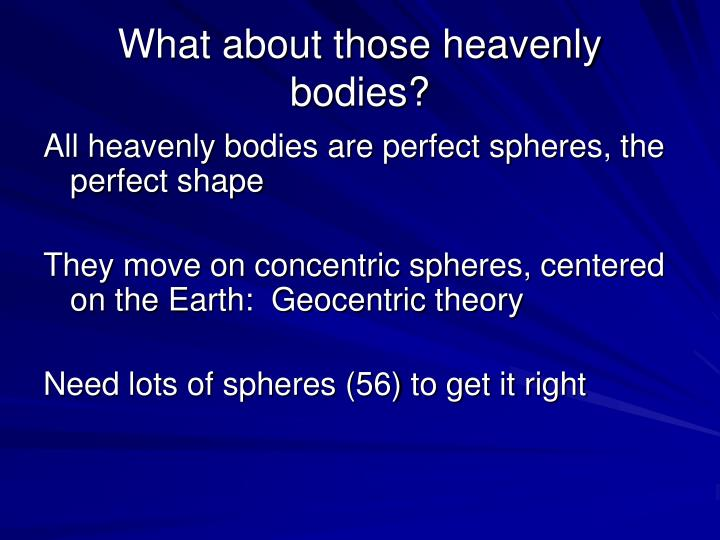 Science Of Nature Of Heavenly Bodies