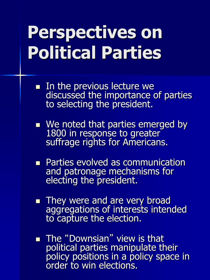 Perspectives on Political Parties