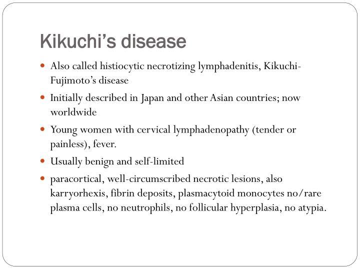 Kikuchi's disease