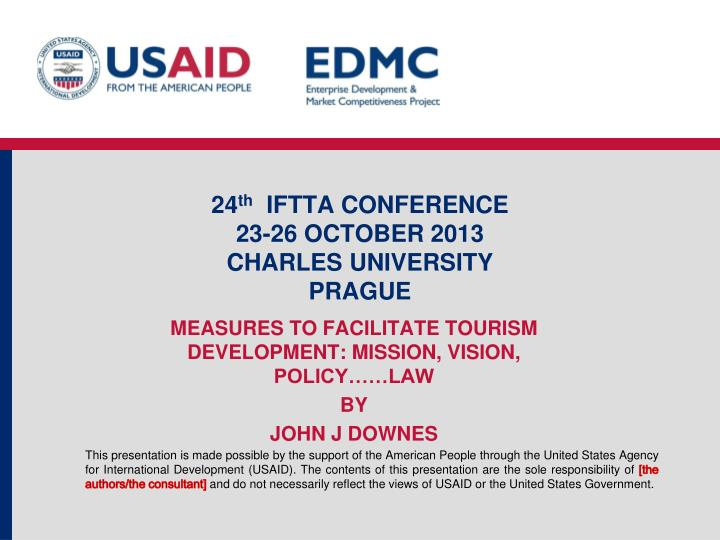 24 th iftta conference 23 26 october 2013 charles university prague n.