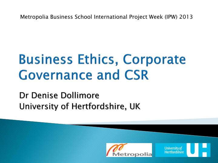 PPT - Business Ethics, Corporate Governance and CSR PowerPoint