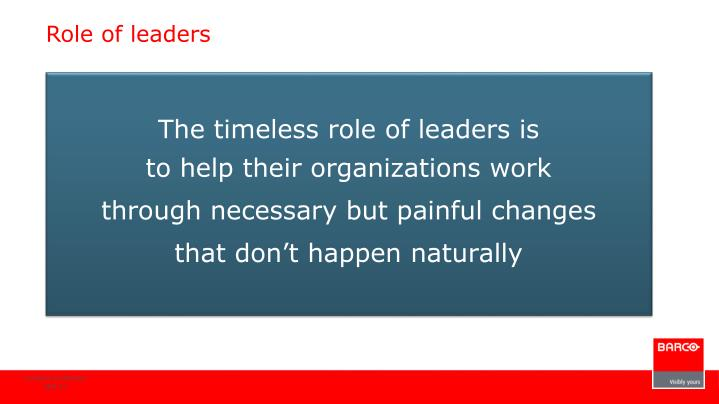 Role of leaders