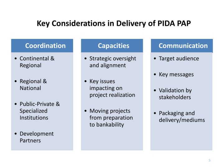 Key Considerations in Delivery of PIDA PAP