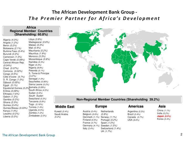 The african development bank group the premier partner for africa s development