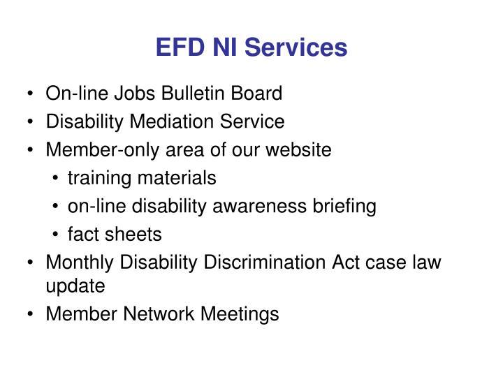 EFD NI Services