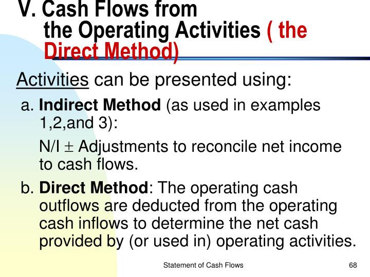 V. Cash Flows from
