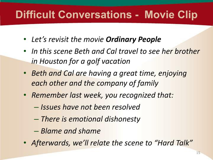 Difficult Conversations -  Movie Clip