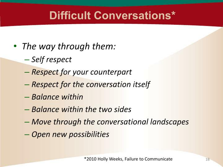Difficult Conversations*