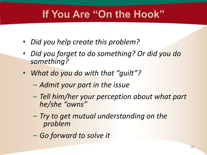 "If You Are ""On the Hook"""