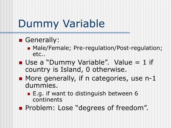 Dummy Variable