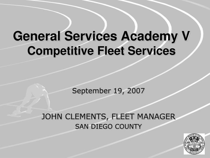general services academy v competitive fleet services n.