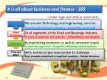 it is all about business and finance
