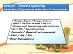 services process engineering production of engineering deliverable for procurement