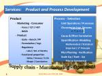services product and process development