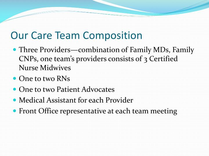 Our Care Team Composition