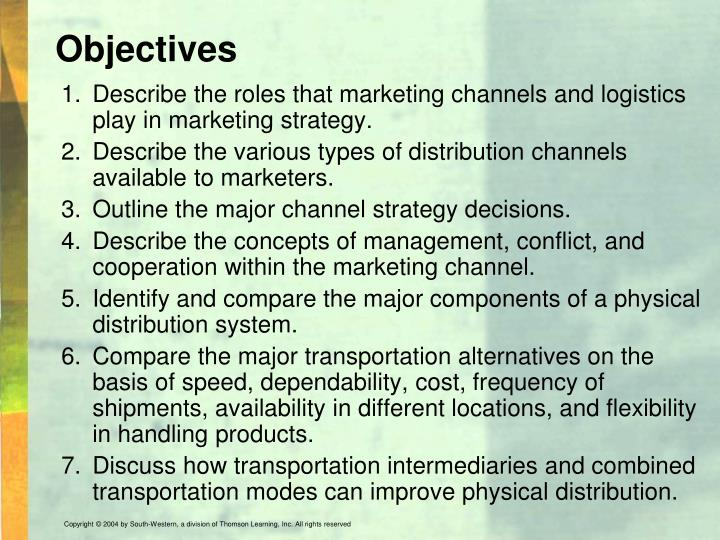 objectives of marketing channels