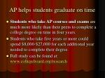 ap helps students graduate on time