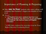 importance of planning preparing